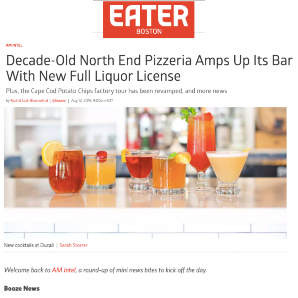 Eater Boston featuring Ducali