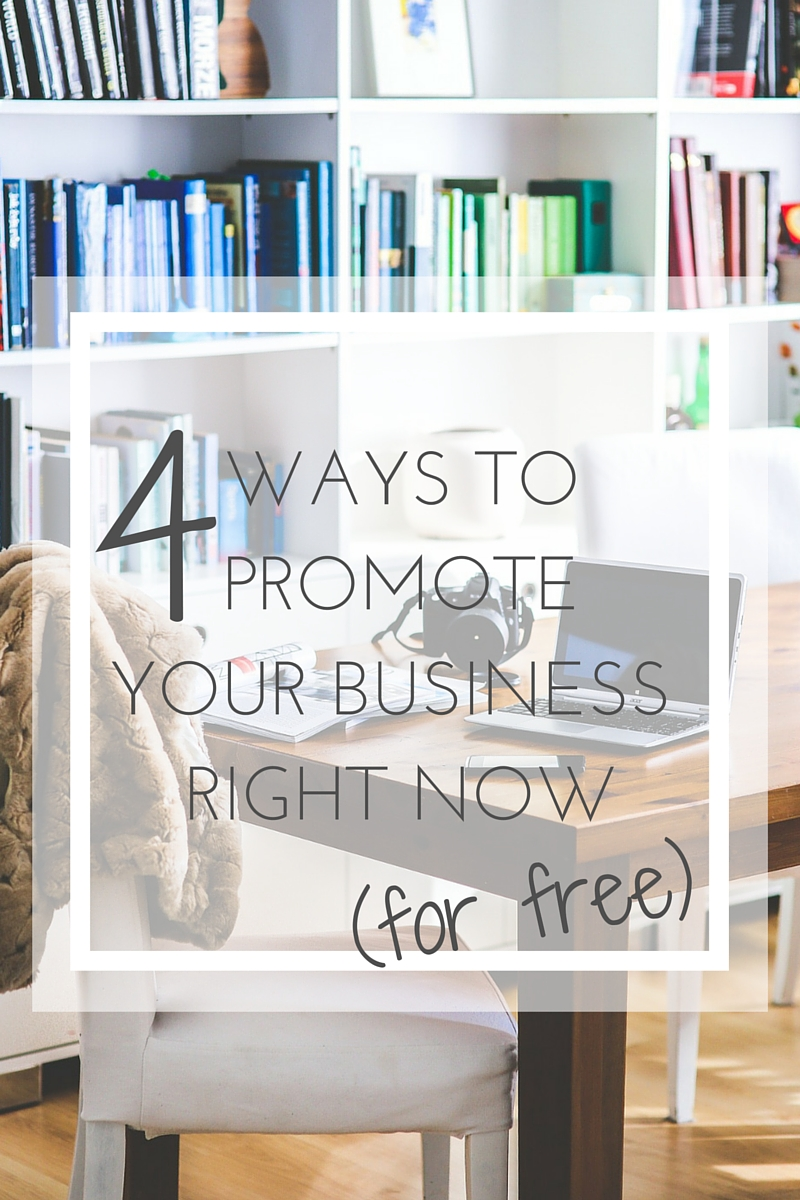 4 ways to promote your business for free || pollinapr.com