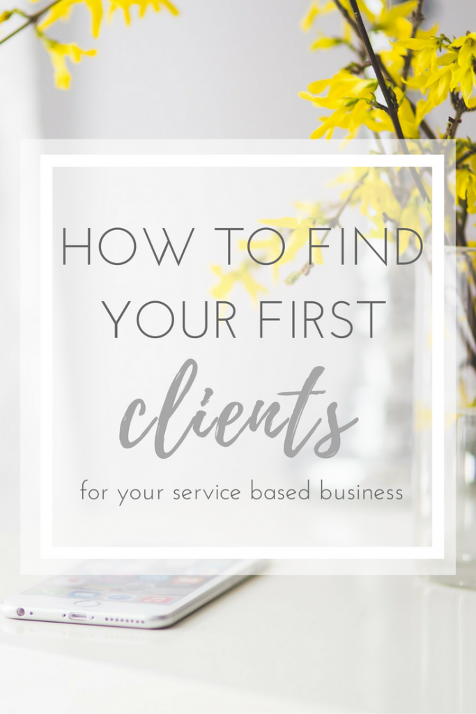 how to find your first clients || pollinapr.com